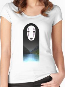 No Face- Spirited Away Women's Fitted Scoop T-Shirt