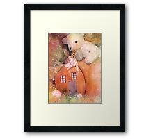 Little Fairy In The Pumpkin Patch Framed Print
