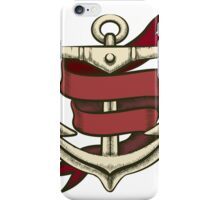 Anchor with Ribbon iPhone Case/Skin