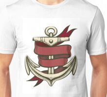 Anchor with Ribbon Unisex T-Shirt