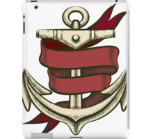 Anchor with Ribbon iPad Case/Skin