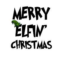 Merry Elfin' Christmas Photographic Print