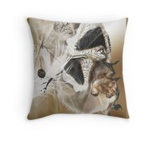 To feel feathers in face of death Throw Pillow