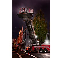 Salem Fire Truck Photographic Print