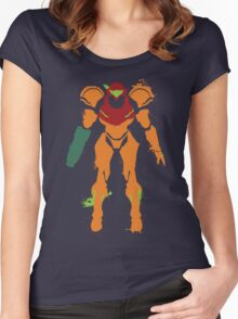Samus Aran Splattery T Women's Fitted Scoop T-Shirt