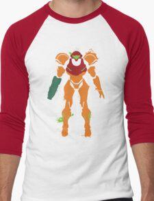 Samus Aran Splattery T Men's Baseball ¾ T-Shirt
