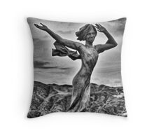 Ekaterine (Kate) Frolov Statue On Capstone Hill Throw Pillow