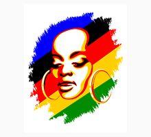 African Woman Face Print Template Unisex T-Shirt