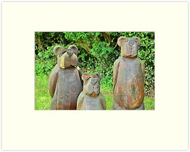 three bears in wood by Steve