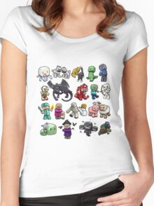 Cute Minecraft Mobs Women's Fitted Scoop T-Shirt