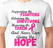 Supporting The Fighters Breast Cancer Awareness Unisex T-Shirt