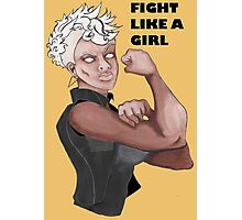 Fight Like a Girl (Words) Photographic Print