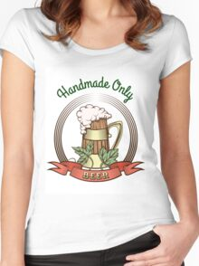 Beer Mug in Vintage Style Women's Fitted Scoop T-Shirt