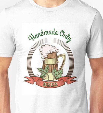 Beer Mug in Vintage Style Unisex T-Shirt