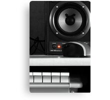 Speaker, Mouse and Keys Canvas Print