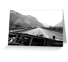 The road to Italy Greeting Card