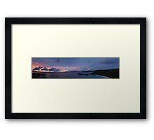 ST JOHN SUNSET Framed Print