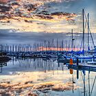Sunset at the Marina by Mari  Wirta