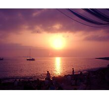 Cafe del mar sunset Photographic Print