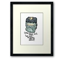 "CRAP HERO No.1 ""Sad Pete"" Framed Print"