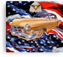 patriotic  caddy Canvas Print