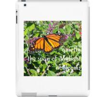 monarch bloom iPad Case/Skin