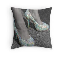 These shoes were made for walking in... Throw Pillow