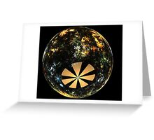 Autumn in a glass marble Greeting Card
