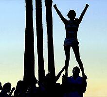 Silhouette of Cheerleader by paintingsheep