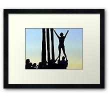 Silhouette of Cheerleader Framed Print