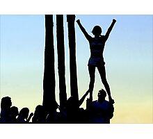 Silhouette of Cheerleader Photographic Print