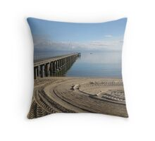 Dreamy Winter Seascape (253 views 6.4.13) Throw Pillow