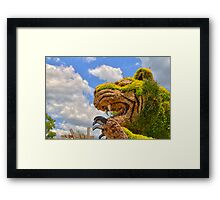 Garden Tiger Living Free Framed Print