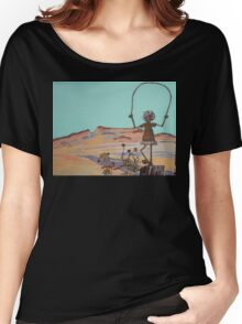 Girl Jumping Rope, Saddle Butte Women's Relaxed Fit T-Shirt