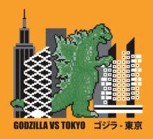 Godzilla vs Tokyo Architecture Tshirt by pohcsneb