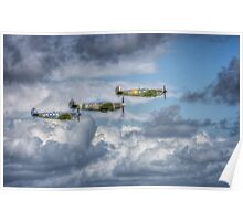 Battle of Britain Flypast at Goodwood Poster
