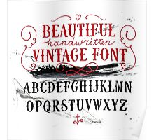 Vintage Font Poster