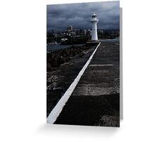 Old Wollongong Harbour Lighthouse  Greeting Card