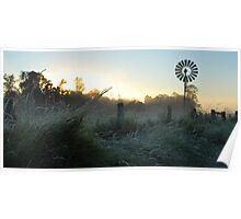 Frosty Country Sunrise Poster