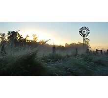 Frosty Country Sunrise Photographic Print