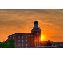 Courthouse Sunset Photographic Print