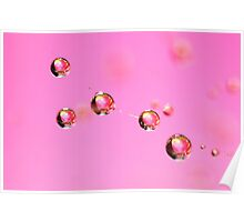 Pink Patchwork Poster
