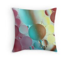 Pastels & Oil Throw Pillow