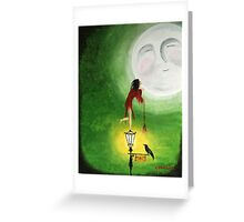 Kissing the Moon Greeting Card