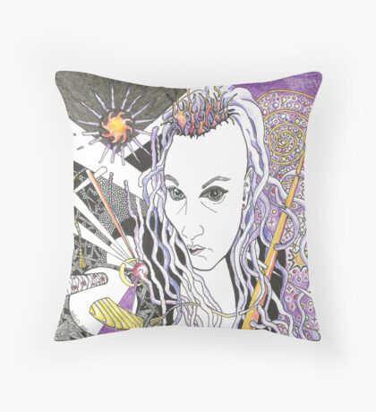 Personal Space - Portrait of RB artist Dreddart Throw Pillow