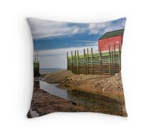 Halls Harbour Throw Pillow