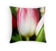 Anniversary Tulips Throw Pillow