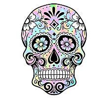 Sugar Skull Rainbow Photographic Print