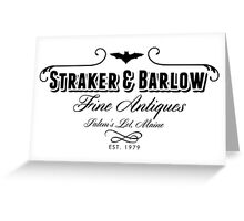 Straker & Barlow Fine Antiques Greeting Card