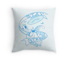 Stay Strange - Blue Throw Pillow